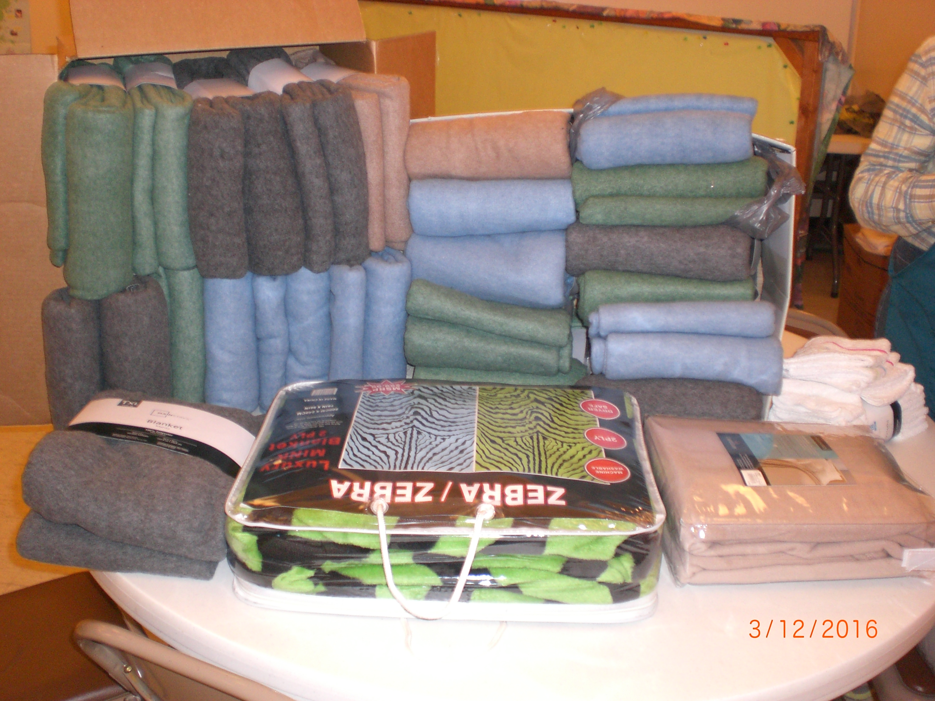 Items Donated by Church Members for the Hope House During March 2015